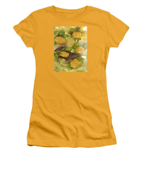 Five Yellow Roses Women's T-Shirt (Junior Cut) by Lucia Grilletto