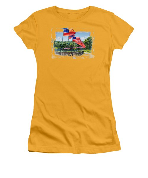 Flag Walk Women's T-Shirt (Athletic Fit)