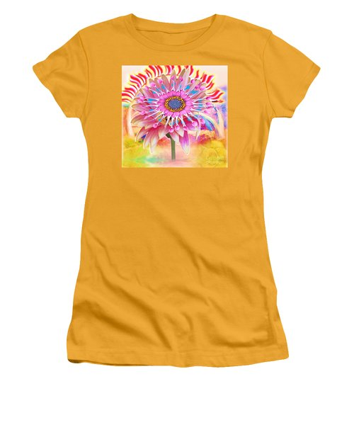 Flaming Sunrise Women's T-Shirt (Athletic Fit)