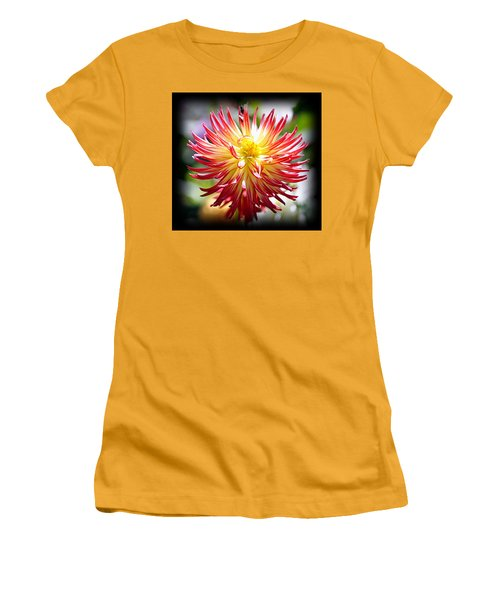 Women's T-Shirt (Athletic Fit) featuring the photograph Flaming Beauty by AJ Schibig