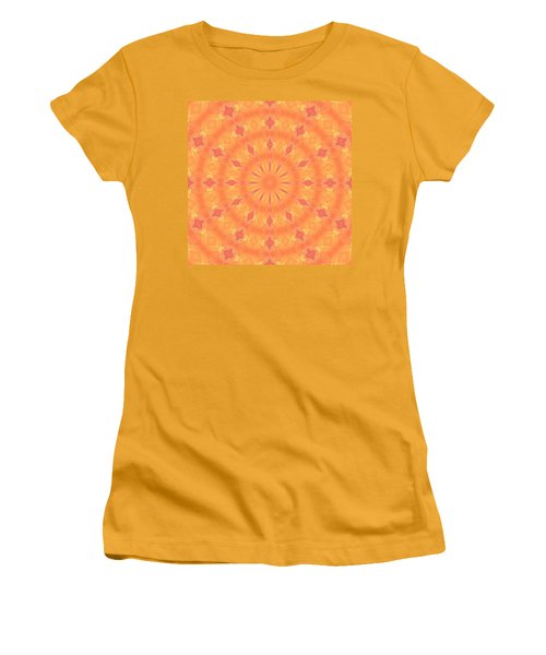 Women's T-Shirt (Athletic Fit) featuring the digital art Flaming Sun by Elizabeth Lock