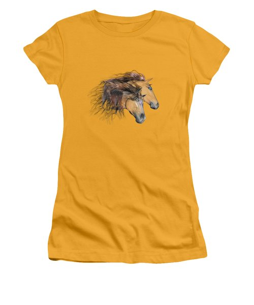 Flaxen Manes Women's T-Shirt (Athletic Fit)