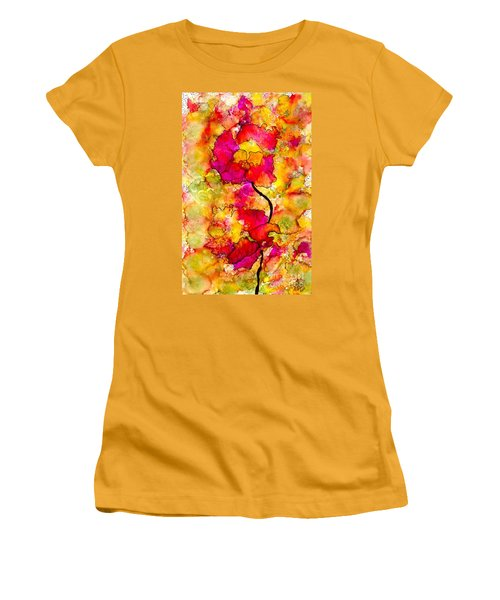 Floral Duet Women's T-Shirt (Athletic Fit)