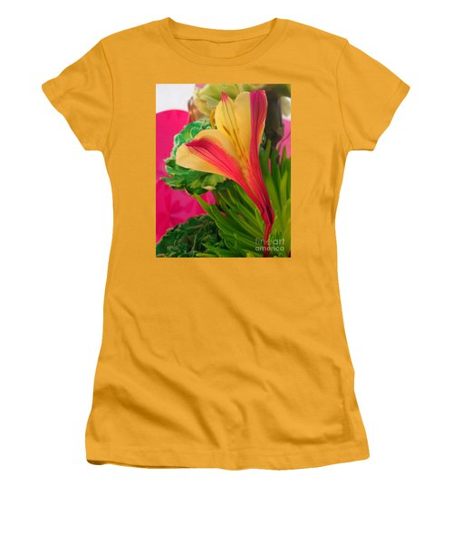 Floral Fusion Women's T-Shirt (Athletic Fit)