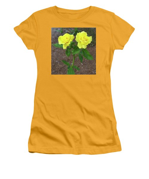 Women's T-Shirt (Athletic Fit) featuring the painting Floral Print 101 by Chris Flees