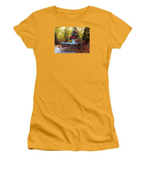 Flower Filled Wagon Women's T-Shirt (Junior Cut) by Catherine Gagne