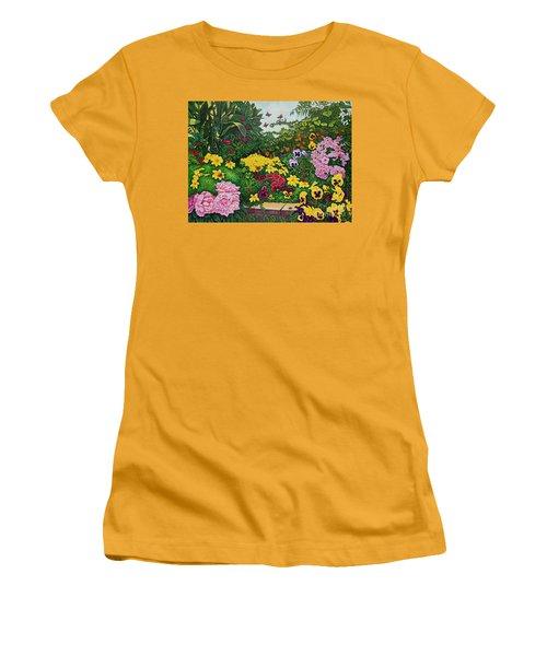 Flower Garden Xii Women's T-Shirt (Athletic Fit)