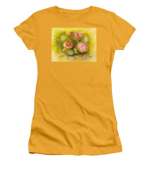 Flowers Pink Women's T-Shirt (Junior Cut) by Marlene Book