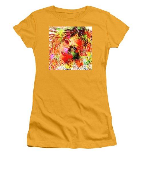 Flowery Shakira Women's T-Shirt (Junior Cut) by Navo Art
