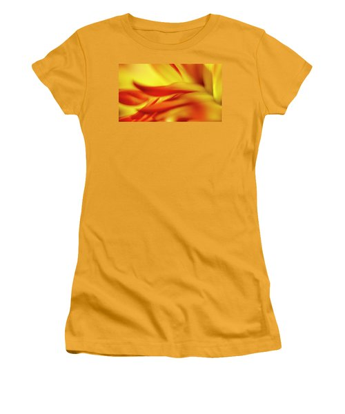 Flowing Floral Fire Women's T-Shirt (Athletic Fit)