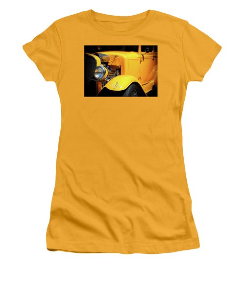 Women's T-Shirt (Athletic Fit) featuring the photograph Ford Hot-rod by Jeremy Lavender Photography