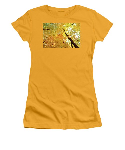 Forest Fall Yellow  Women's T-Shirt (Athletic Fit)