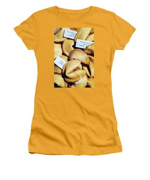 Fortune Cookie Women's T-Shirt (Junior Cut) by Vivian Krug Cotton