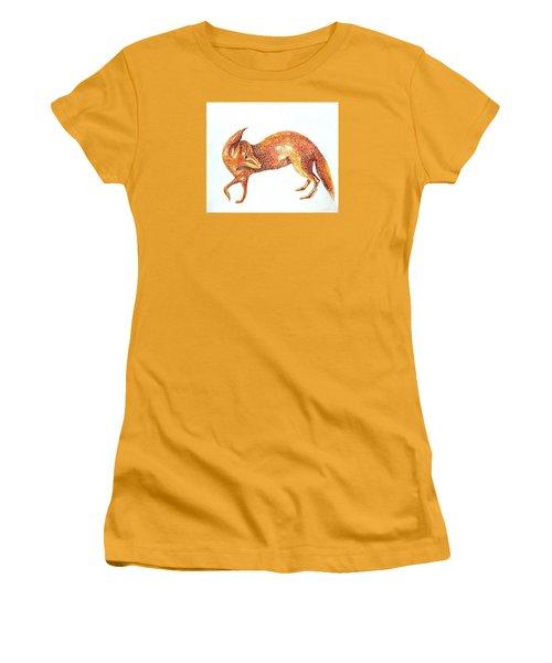 Fox Trot Women's T-Shirt (Junior Cut) by Tamyra Crossley