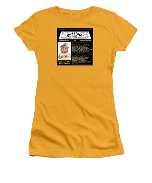 Women's T-Shirt (Junior Cut) featuring the painting Real Fake News Analyst 1 by Dawn Sperry