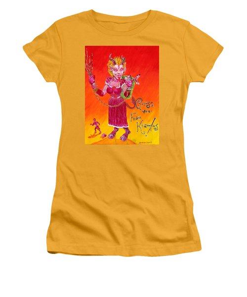 Frau Krampus Women's T-Shirt (Athletic Fit)