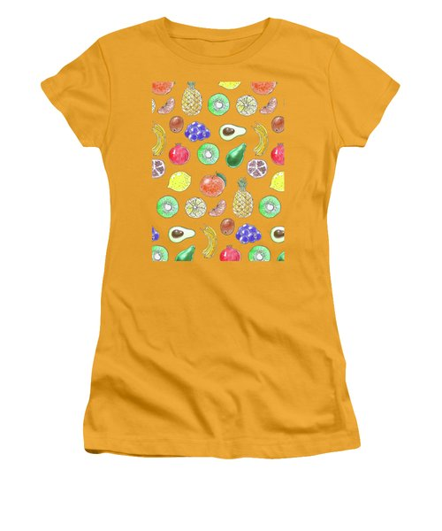 Fruit Pattern  Women's T-Shirt (Athletic Fit)