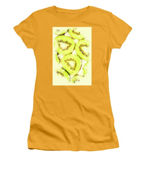 Full Frame Shot Of Fresh Kiwi Slices With Seeds Women's T-Shirt (Junior Cut) by Jorgo Photography - Wall Art Gallery