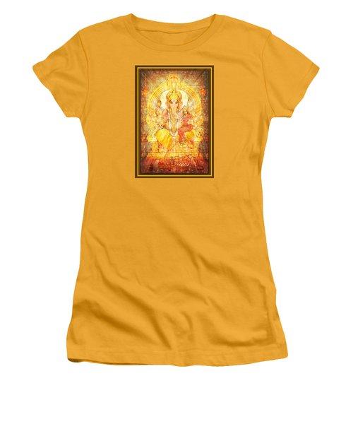 Ganesha Ganapati  Women's T-Shirt (Junior Cut) by Ananda Vdovic
