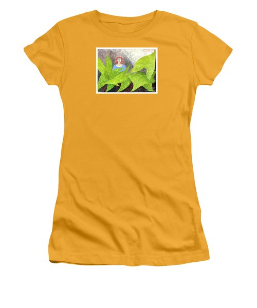 Garden Fantasy  Women's T-Shirt (Junior Cut) by Fred Jinkins