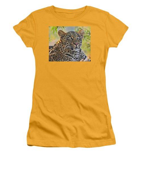 Gazing Leopard Women's T-Shirt (Athletic Fit)