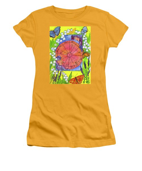Women's T-Shirt (Junior Cut) featuring the painting Gemini by Cathie Richardson