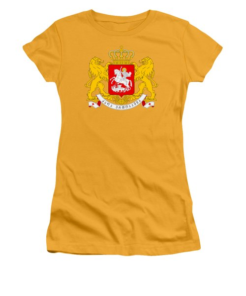 Georgia Coat Of Arms Women's T-Shirt (Junior Cut) by Movie Poster Prints