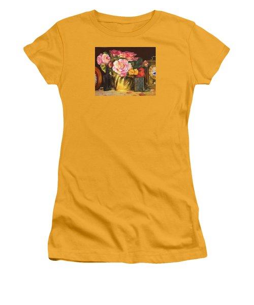 Women's T-Shirt (Athletic Fit) featuring the painting Gift Of Time by Marlene Book