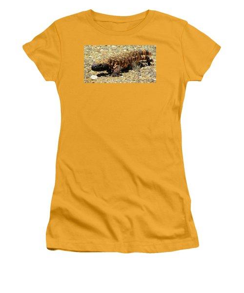Gila Monster On The Prowl Women's T-Shirt (Junior Cut) by Brenda Pressnall