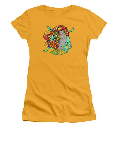 Girl Sagittarius Zodiac Women's T-Shirt (Athletic Fit)