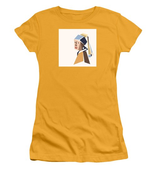 Girl With A Pearl Earring Women's T-Shirt (Athletic Fit)