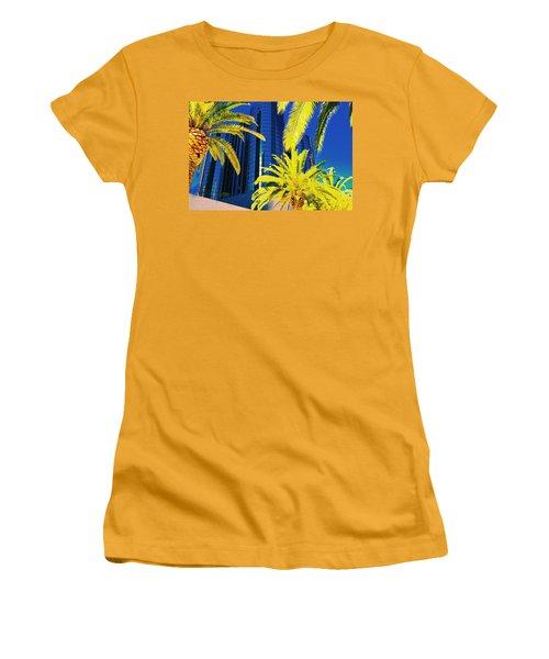 Glass And Palms Women's T-Shirt (Junior Cut) by Joe Burns