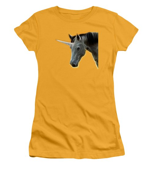 Women's T-Shirt (Junior Cut) featuring the photograph Glowing Unicorn by Shane Bechler