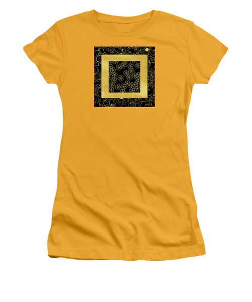Gold And Black Women's T-Shirt (Athletic Fit)