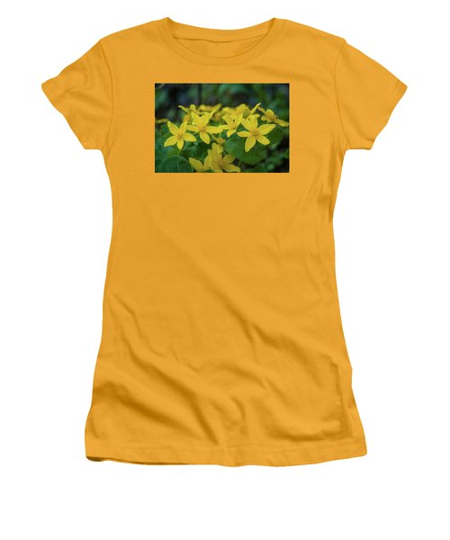 Women's T-Shirt (Junior Cut) featuring the photograph Gold In The Marsh by Bill Pevlor