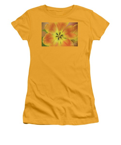 Gold Tulip Explosion Women's T-Shirt (Athletic Fit)