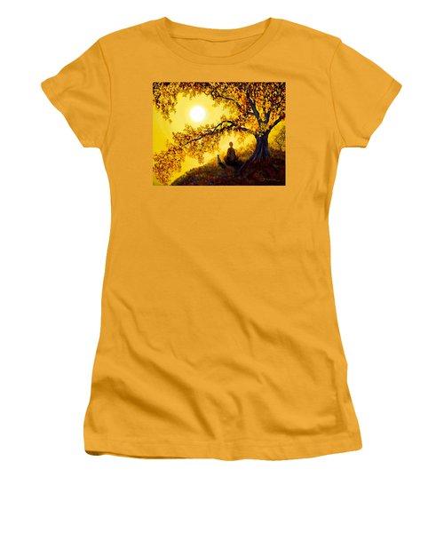 Golden Afternoon Meditation Women's T-Shirt (Junior Cut) by Laura Iverson