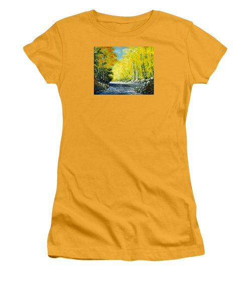 Golden Autumn Women's T-Shirt (Athletic Fit)