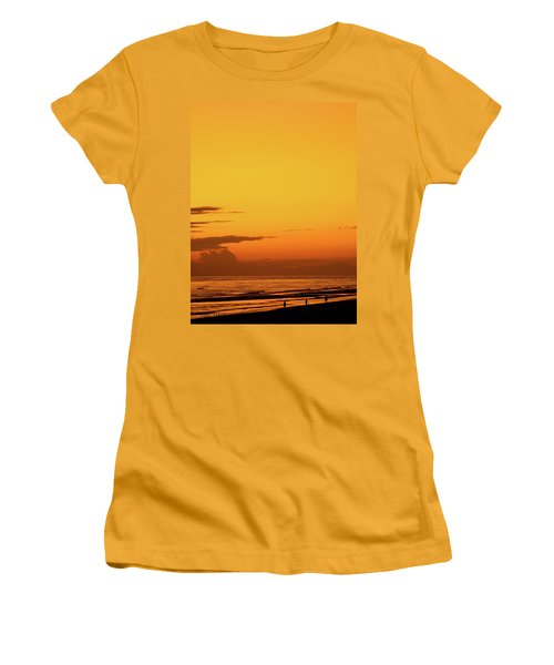 Golden Beach Sunset Women's T-Shirt (Athletic Fit)