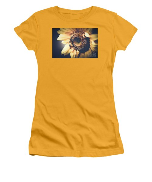 Women's T-Shirt (Junior Cut) featuring the photograph Golden Honey Bees And Sunflower by Sharon Mau