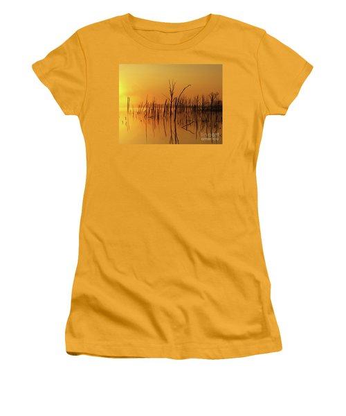 Golden Reflections Women's T-Shirt (Junior Cut) by Roger Becker