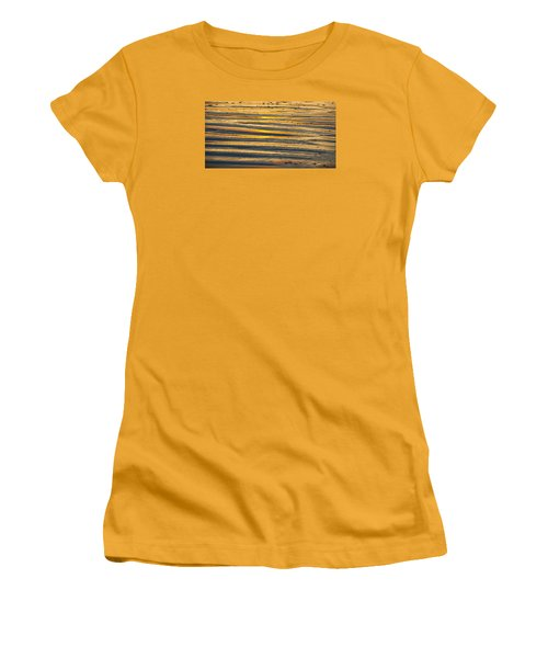 Golden Sand On Beach Women's T-Shirt (Athletic Fit)