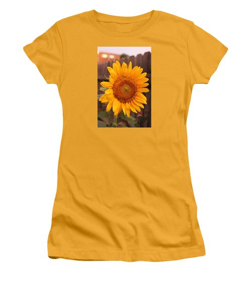 Golden Sunflower Closeup Women's T-Shirt (Athletic Fit)