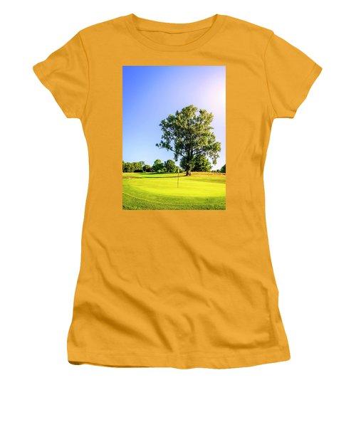 Women's T-Shirt (Junior Cut) featuring the photograph Golf Course by Alexey Stiop