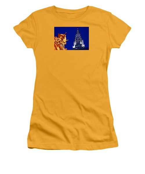 Grand Central Station And Chrysler Building Women's T-Shirt (Junior Cut)
