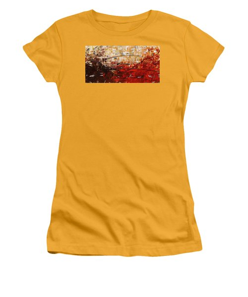 Women's T-Shirt (Junior Cut) featuring the painting Grand Vision by Carmen Guedez