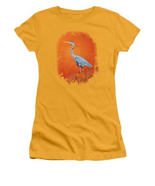 Great Blue Abstract 2 Women's T-Shirt (Junior Cut) by John M Bailey