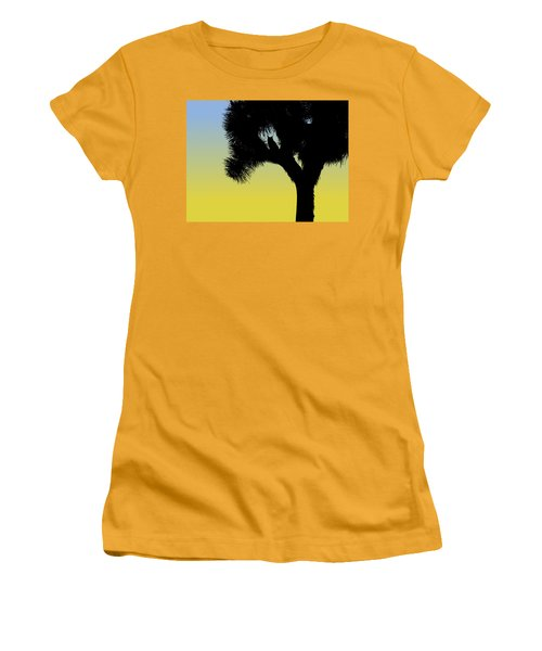 Great Horned Owl In A Joshua Tree Silhouette At Sunrise Women's T-Shirt (Athletic Fit)