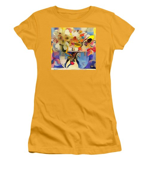 Greek Flowers Women's T-Shirt (Athletic Fit)