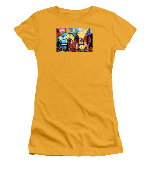 Gregory Porter And Band Women's T-Shirt (Junior Cut) by Everett Spruill